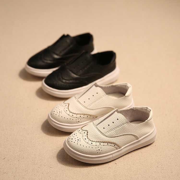 New Fashion Kids shoes Children PU Leather Sneakers For Baby shoes Boys Girls Boat Shoes Slip