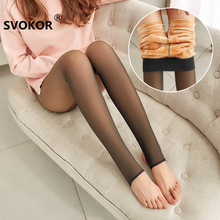 SVOKOR Winter Leggings Thick Legins Women  Through The Meat Warm Pants Womens Leggings Warm Mesh Leggins For Womens