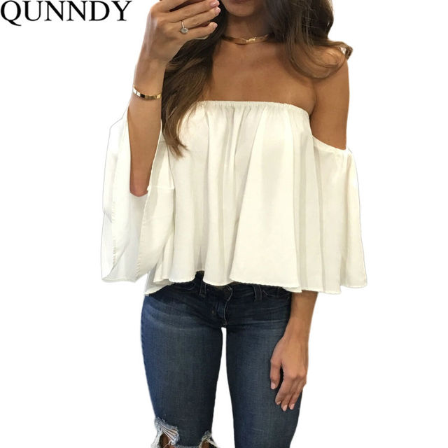37f6100df76 Chiffon Kimono Blusas Feminina Sexy Off Shoulder Women Blouses Casual Shirt  Plus Size Camisas Mujer Half Sleeve Ladies Tops