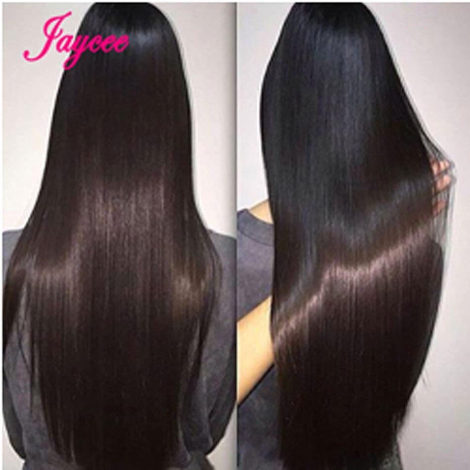Jaycee שיער חבילות שיער חלק 8 ~ 26 Inch צבע טבעי 100% שיער אדם אריגת משלוח חינם רמי שיער