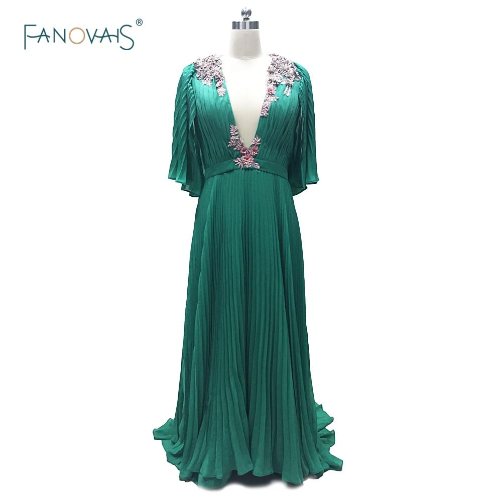 Пикантные Лупита Ньонго изумрудно зеленый шифоновое платье знаменитости Каннского 2015 аппликации вечерние платья Вечерние платья cd13