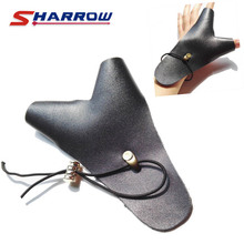 1 Piece Archery Finger Guard Protect Protection Tool Cow Leather Left Hand Accessory