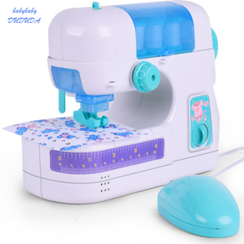 New Mini Electric Simulation Sewing Machine Baby Clothing Small Household Appliances Children Home Children Gift Toys new manual shoe making sewing machine