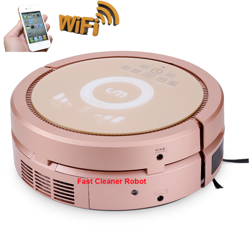 Free Shipping to Russia Robot Vacuum Cleaner QQ6KDM Working with Air Purifier, WIFI APP Smartphone Control,3350mah Lithium