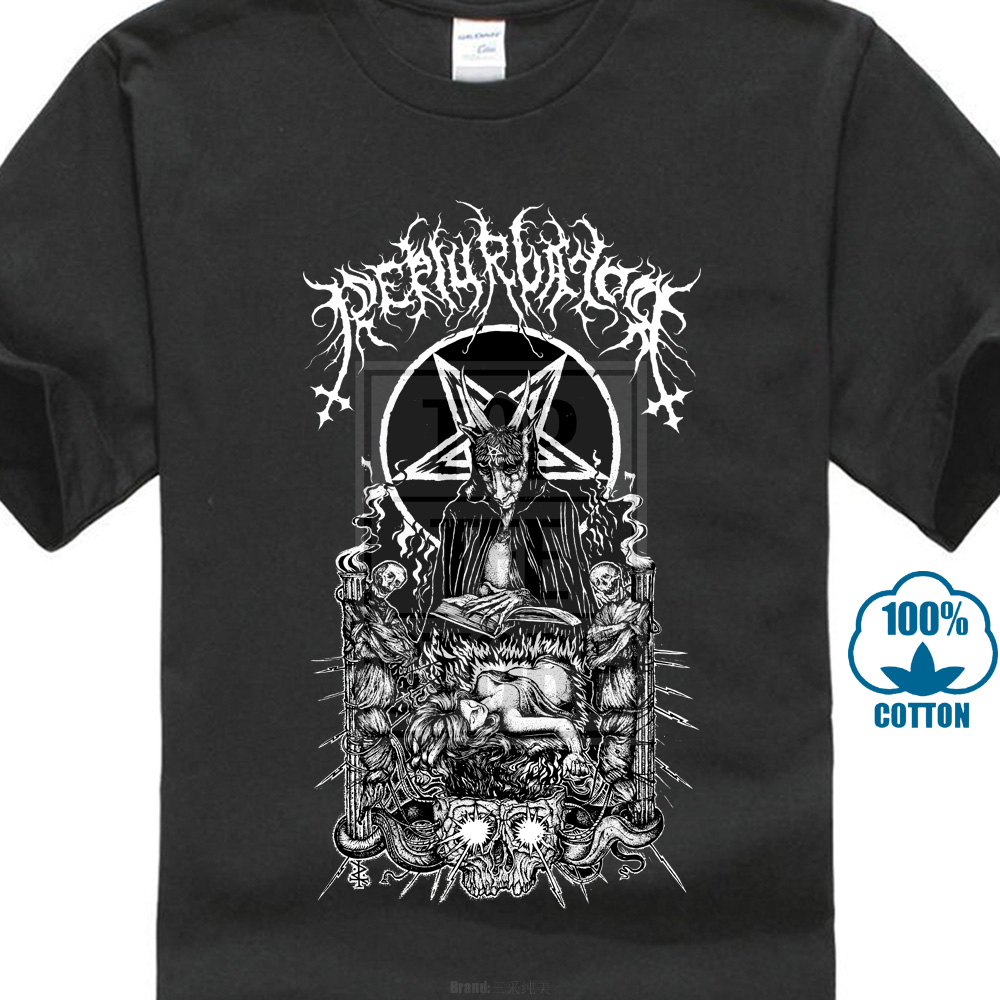 Perturbator Business With Satan Shirt M L Official Tshirt Dark Wave T Shirt Mens T Shirt Summer O Neck 100% Cotton Men Short