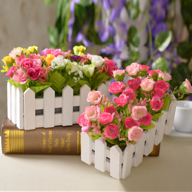 Rose Set Artificial Flower Home Furnishing Decorative Flower The Wedding Party Flower Decoration