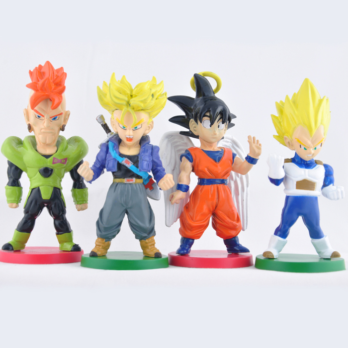 4pcs/set Dragon Ball Q version Action Figures Anime PVC brinquedos Collection Figures toys AnnO00701M