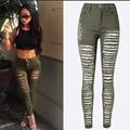 American apparel de cintura alta jeans mujer ripped jeans para la mujer vaqueros pitillo femme pantalon femme caliente jardineira jeans rasgados