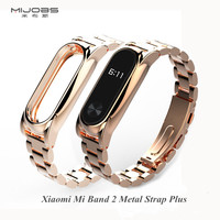 Mijobs Metal Strap For Xiaomi Mi Band 2 Straps Screwless Stainless Steel Bracelet Smart Band Replace