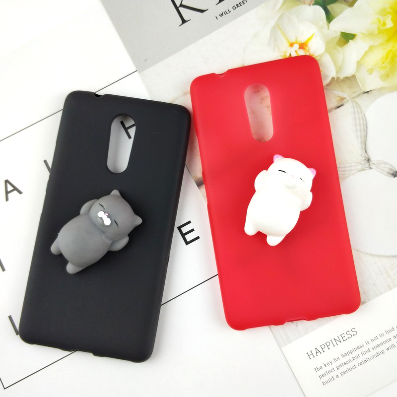Squishy 3D Toys Phone Cat Case For Lenovo Z6 Lite S5 Pro Z5 C2 K8 K6 Power K5 Note K5 Plus K3 Rabbit Cover Cat Soft Case
