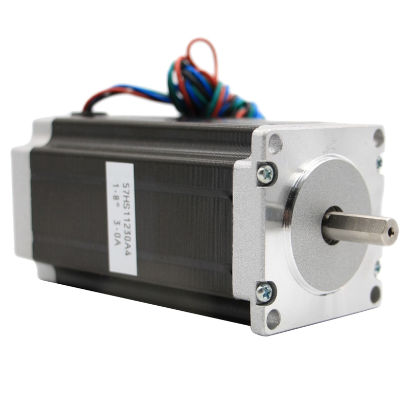 Stepper Motor 112 X 57Mm High Torque 3.0A 3Nm Two-Phase 4-Wire Single-Axis 24V Stepper MotorStepper Motor 112 X 57Mm High Torque 3.0A 3Nm Two-Phase 4-Wire Single-Axis 24V Stepper Motor