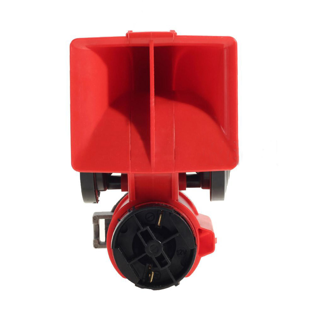 Dewtreetali Car Motorcycle 12v Electric Relay Air Loud Horn 110 125db 760 600hz Black Red In Multi Tone Claxon Horns From Automobiles Motorcycles On