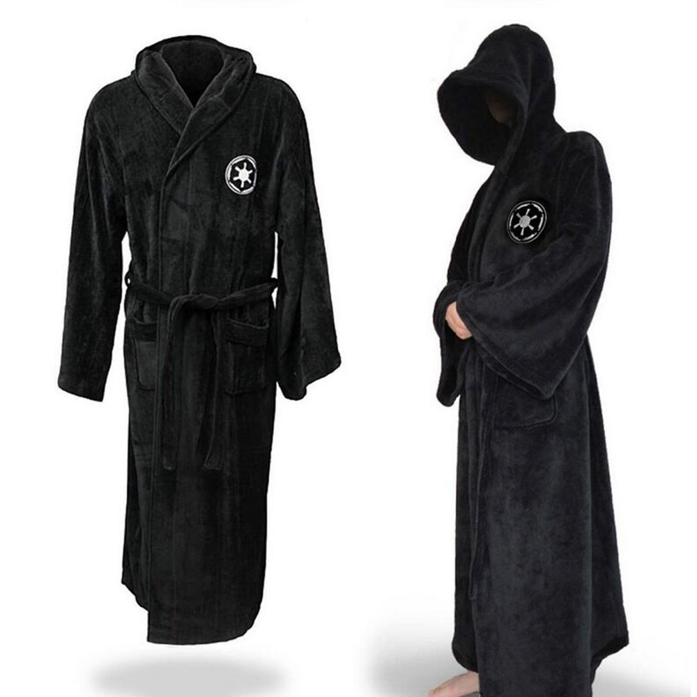 Star Wars Jedi Knight Galaxy Empire Bathrobes Deluxe Vader Costume Cosplay for Man and Woman Pajamas Black and Brown Optional
