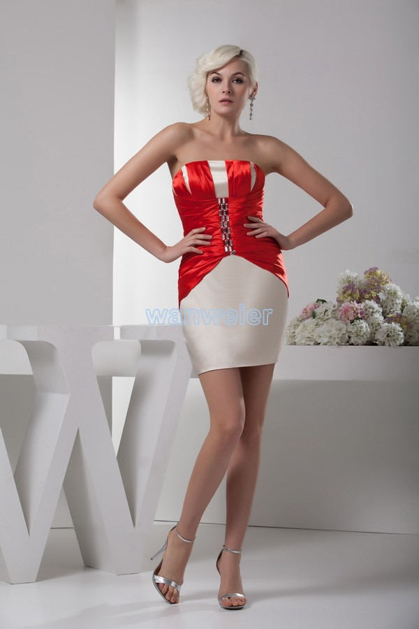 Free Shipping 2015 New Design Fashion Hot Sale Custom Brides Maid Crystal Sexy Short Mini Cocktail Dresses Party Gown