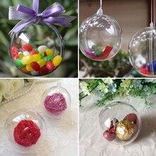 5 шт., 4-8 см, прозрачная подвесная шар, новинка, для рождественской елки, безделушка, прозрачные пластиковые, для дома, вечерние, рождественские украшения, подарок, ремесло
