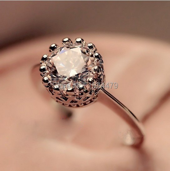 Free Shipping Size5 10 White Gold Filled Rose Gold Queen