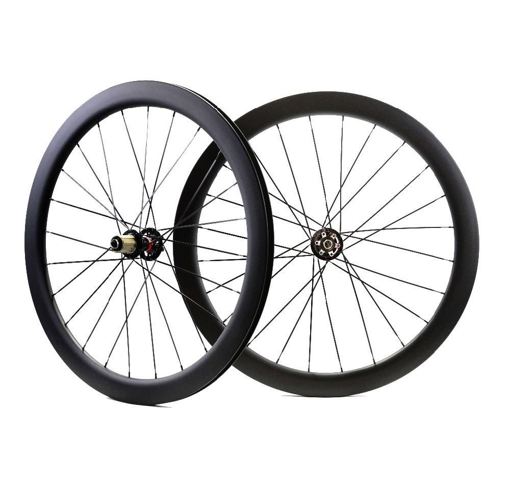 700C Road Disc Brake carbon wheels 50mm depth 23mm width clincher/tubular 50 Disc Cyclocross Bicycle carbon wheelset U-shape rim