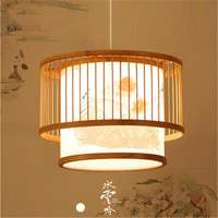 New Chinese Style Bamboo Chandelier Japanese Style Garden Creative Restaurant Tea Room Personality Bamboo Art Classical Lighting