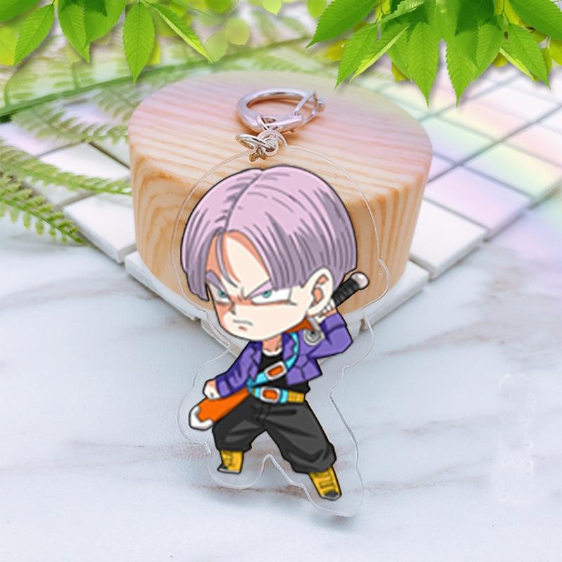 Japan-Anime-Dragonballs-Action-Figure-Acrylic-Bright-Color-KeyRing-two-sided-Figurine-Detective-Kudo-Keychian-toys