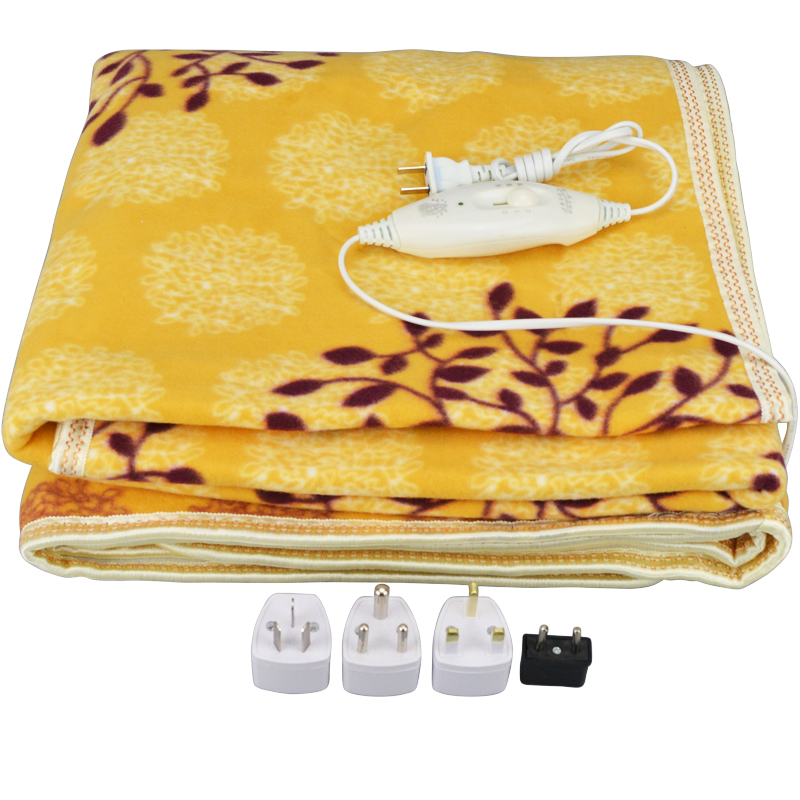 Electric Blanket Plush Double Heated Blanket Security Electric Blanket Thicker Single Electric Mat Body Warmer Heater for Winter