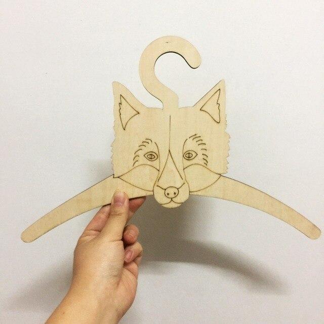5 Pz Set Fai Da Te Carino Fox Bat Panno Appendiabiti Per I Bambini