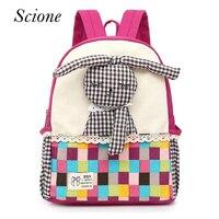 Aged 1-5 Toddler Children Kids Boy Bagpack Rabbit Backpack Canvas Kindergarten School Book Shoulder Bags Rucksack Mochila 130296