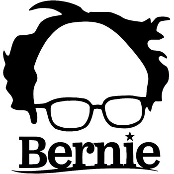 15.2X16CM BERNIE SANDERS Cartoon Car-styling Vinyl Decal Black White Car Window Sticker Exterior Accessories for BMW E60 E90 E46 image
