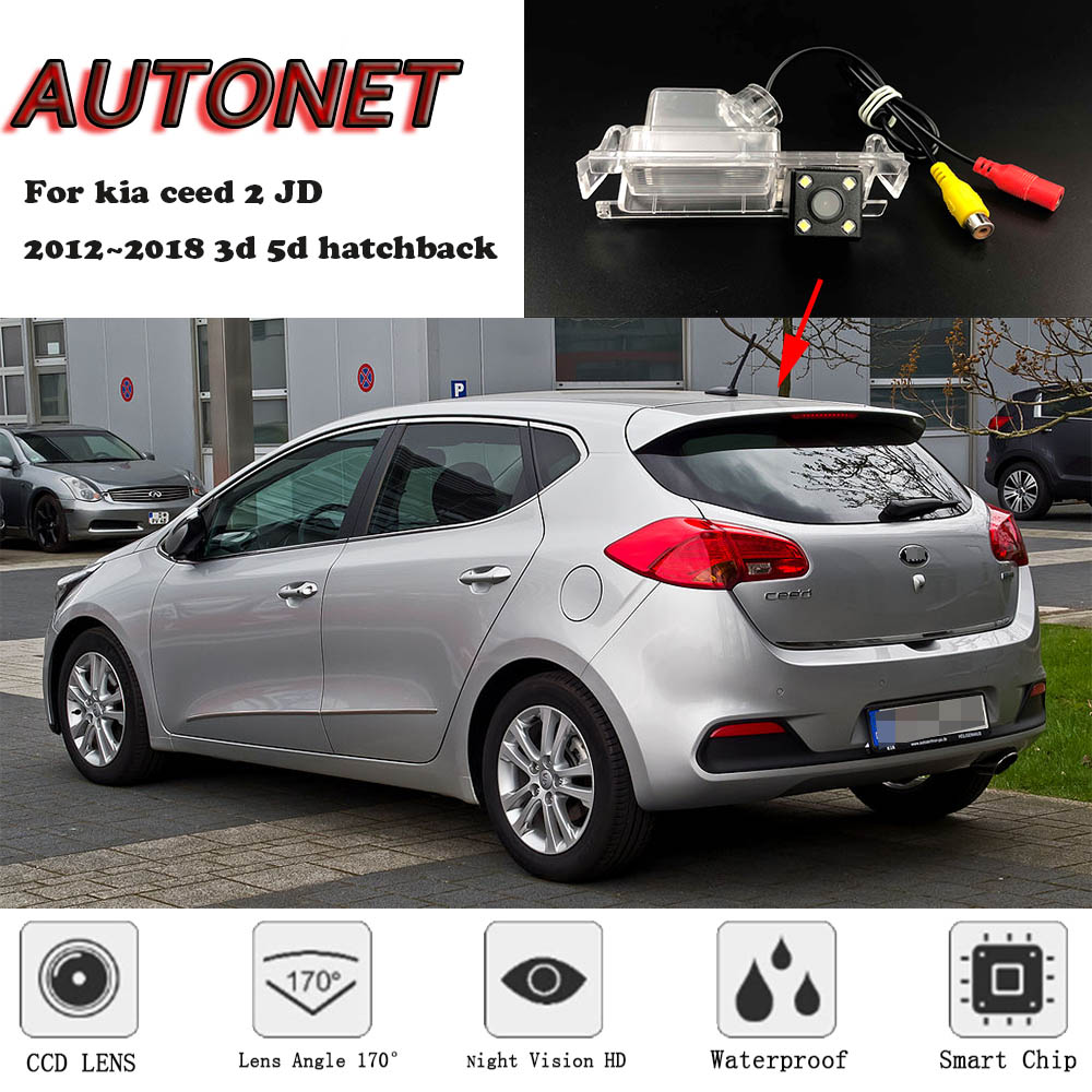 AUTONET Backup Rear View Camera For Kia Ceed 2 JD 2012~2018 3d 5d Hatchback Night Vision/license Plate Camera/parking Camera