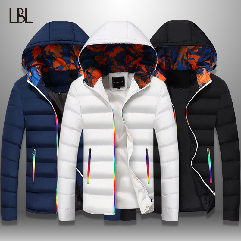 LBL Slim Bomber Jacket Men Autumn Thicken Mens Coat Warm Outwear Windproof Hooded Overcoat Zipper Parkas Jackets Man Hoody Male