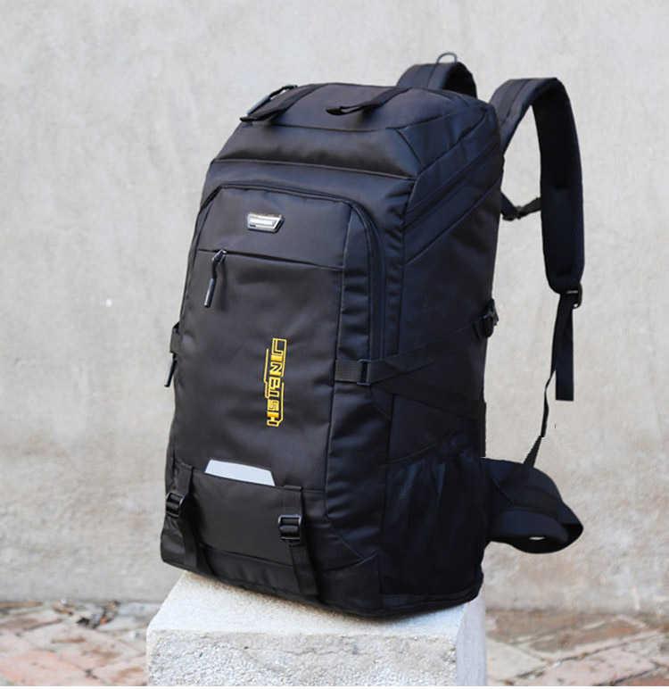 Супер большая емкость упаковки 80L мужчины или женщины высококачественный багаж сумки добавляя увеличенную емкость семьи большой туристический рюкзак