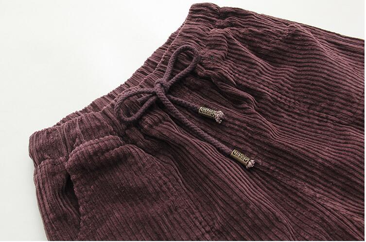 Coreano Con Pana Pantalones Sólido De Cintura Suelto 2019 Delgados Mujer Mujeres Mediados Cordón Elástica Haren Casual AInqWBw5
