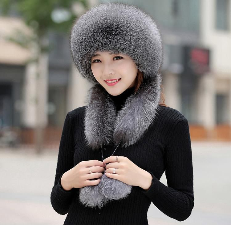 Latest Collection Of Ngsg 2018 Genuine Natural Rex Rabbit Rhinestone Hat Lady Real Silver Blue Fox Fur Scarf Hat Pompon Design Bomber Hats Gray Women Women's Bomber Hats