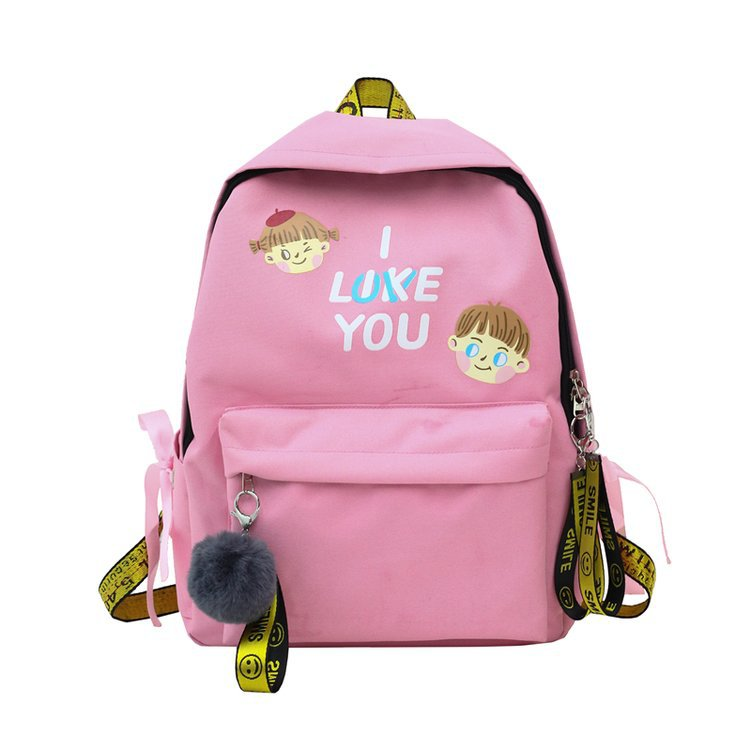 Trendy backpack women Travel Letter Print bagpack schoolbag Ladies rucksack school for teenager girls back pack bag canvas Gift