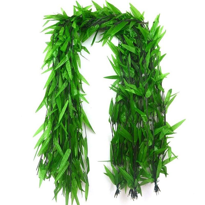 1d7a93373af9f 50 hebras de vid Artificial hojas de seda de Sauce de mimbre - a ...