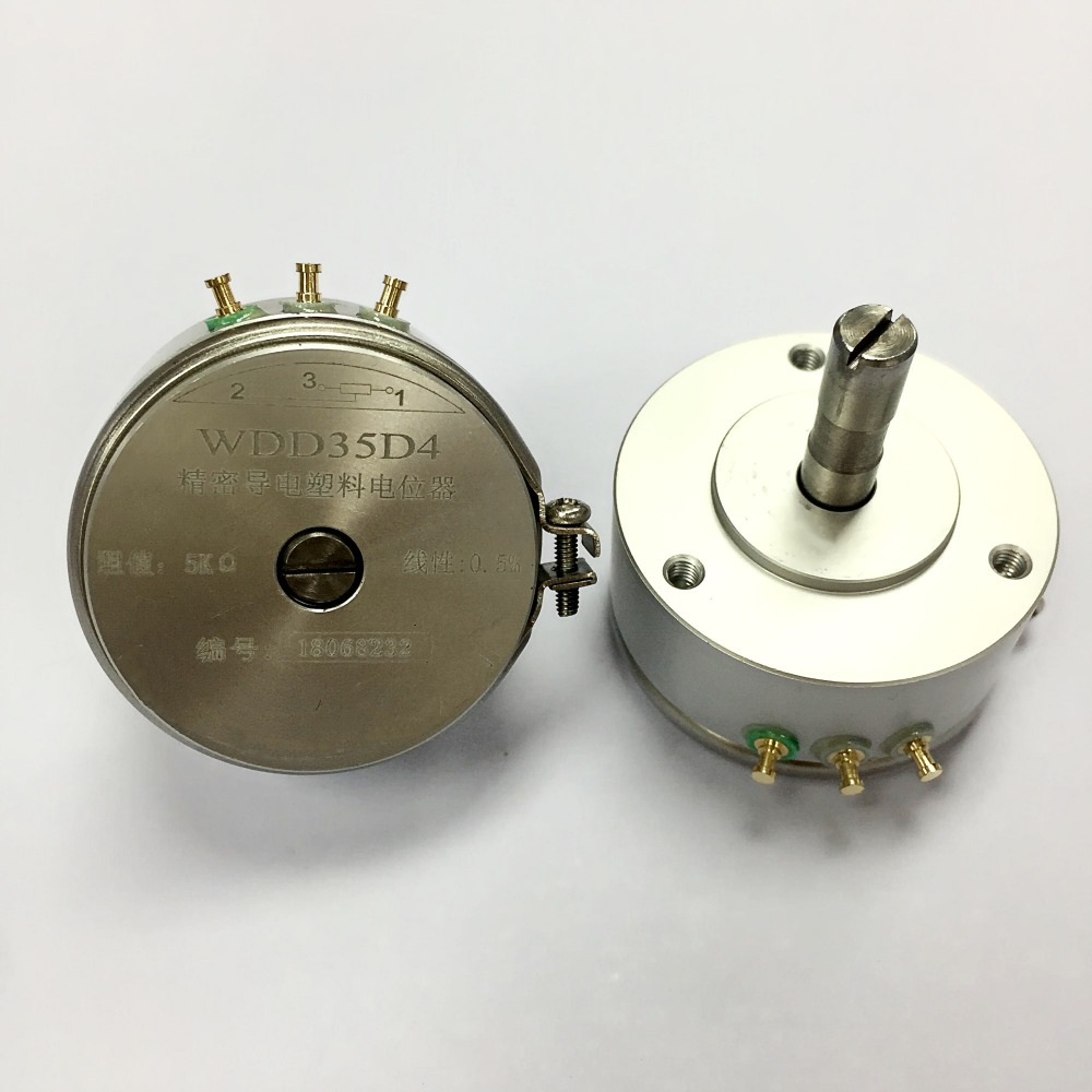 WDD35D4 5K WDD35D 4 0.5% 5K OHM 2W Condutive Plastic Potentiometer-in Potentiometers from Electronic Components & Supplies