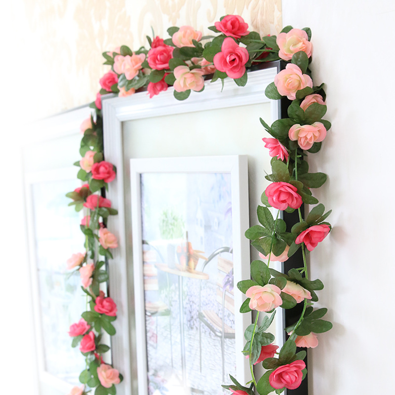 Diy Artificial Flowers Wedding Decoration Flower Rose Rattan Flores Home Decoration Accessories