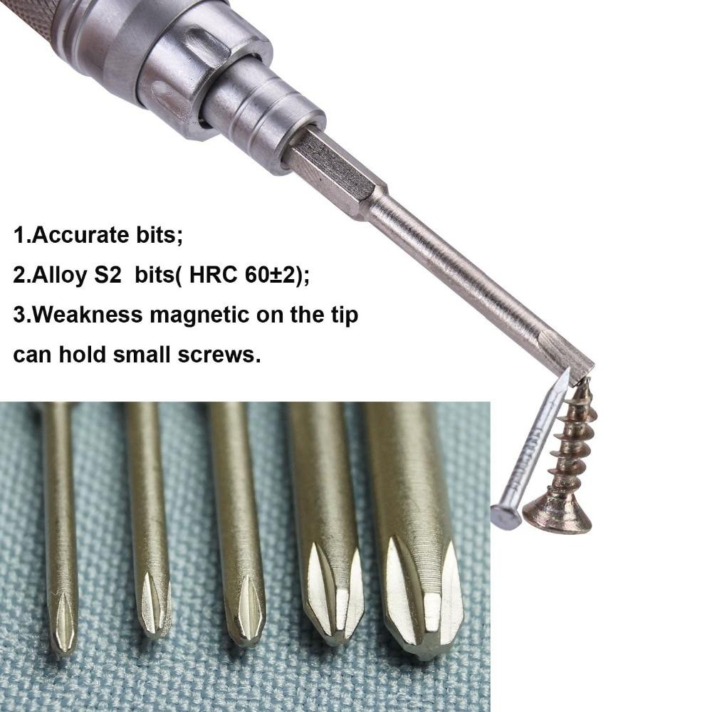 Nanch Precision Skruvmejsel Set 23 st med 22 bitar, S2 Steel Repair - Handverktyg - Foto 4