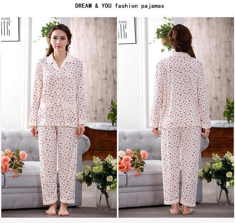 b6edac27d787 Good quality pajamas for women long sleeve pyjama femme plus size ladies  pajama set cotton pijamas mujer women s sleepwear -in Pajama Sets from  Underwear ...