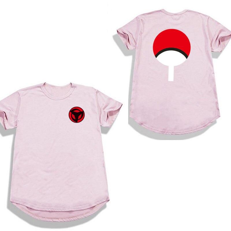 Extended dobladillo ronda camiseta Hip hop de moda Naruto camiseta Streetwear camiseta de la bola del Dragón camisetas hombre hombres mujeres camisetas camisa