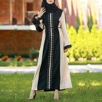 Vestidos 2018 UAE Abaya Dubai Kaftan Indonesia Linen Lace Muslim Hijab Dress Women Robe Musulmane Longue Arabe Jurken Dresses