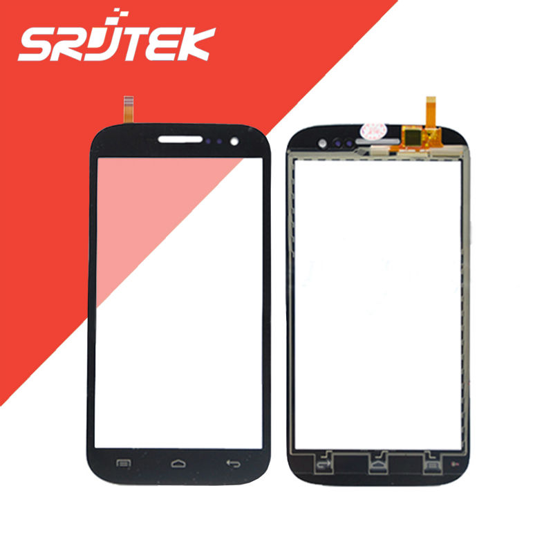 FLY IQ451 FLY IQ 451 Touch Screen Digitizer Sensor Outer Glass Capacitive Screen Black Replacement Parts