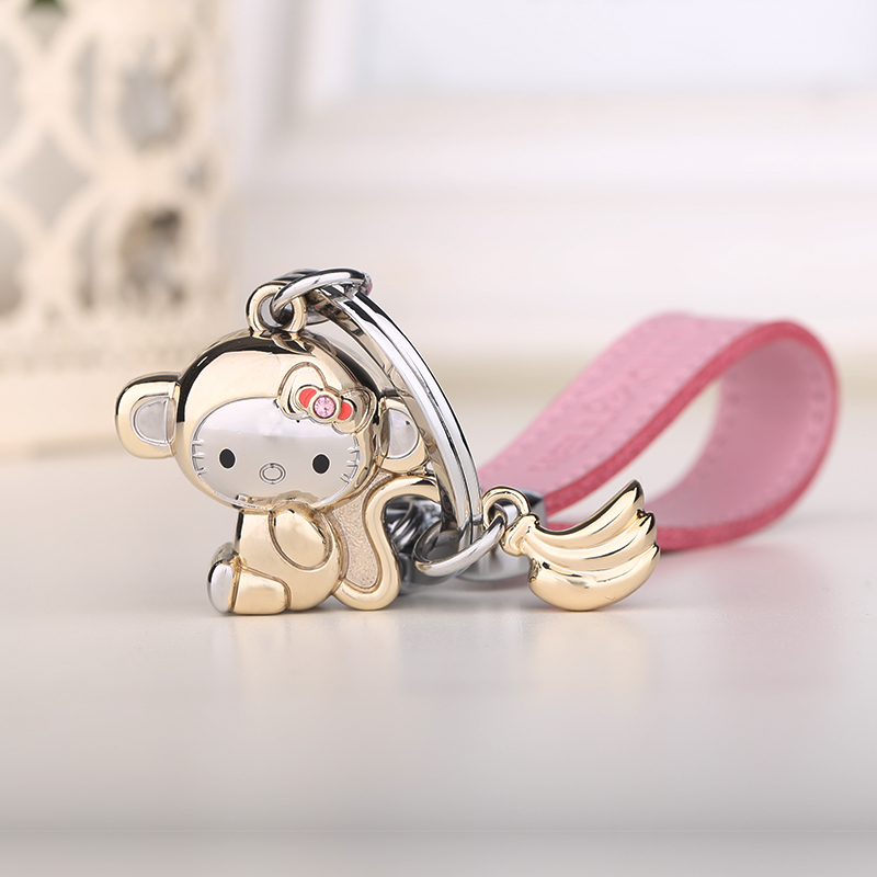 Milesi - New 2016 Brand Lovely Monkey Key chain Keychain Trinket Key Holder Rings for Women Novelty Gift innovative Items