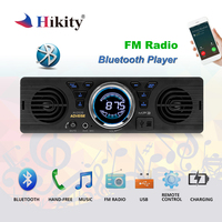 Hikity 1 din Car Radio AV252B Bluetooth 2.1 + EDR Handsfree In dash Auto Car MP3 Stereo Player USB TF Card AUX Built in Speakers