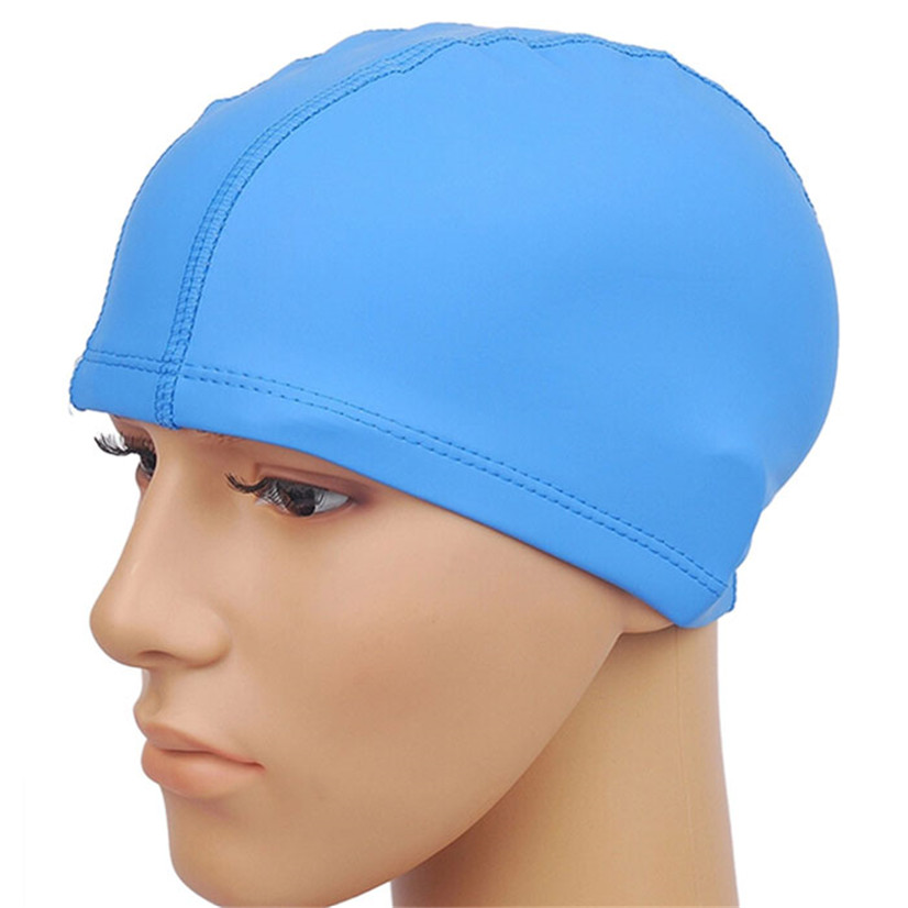 FishSunday Outdoor sports Unisex Adult PU Swim Swimming Hat Cap One Size Fit All comfortable convenient Drop shipping August1 Karachi