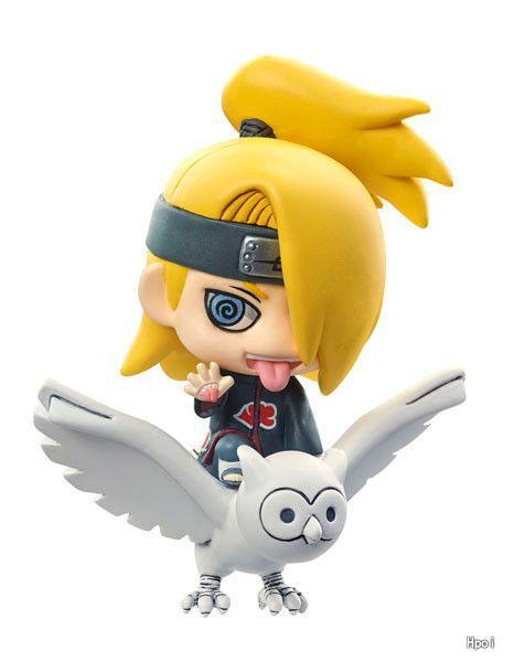 Naruto 6pcs/set Akatsuki Mini Action Figures Zetsu Sasori Deidara Kakuzu Hidan PVC figure Toys Anime 5.5CM