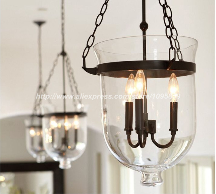 Industrial Bucket Glass Pendant Light Dining Room Restaurant Retro Ceiling Lamp Lighting In Lights From On Aliexpress Com