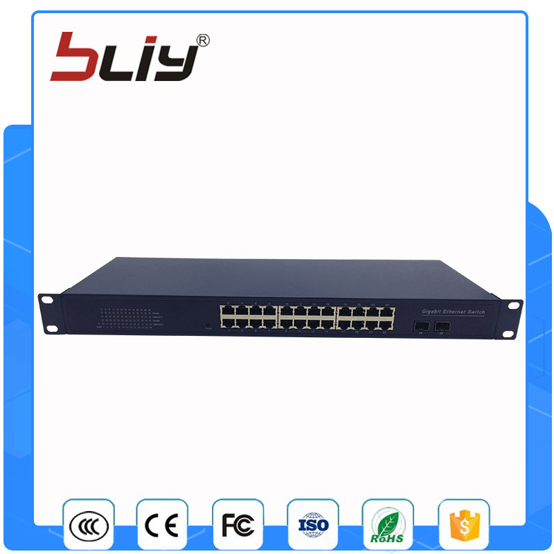 все цены на 24 port gigabit fiber optical rackmount ethernet switch 10/100/1000Mbps rj45 and 2 sfp port fibre channel over ethernet switch онлайн
