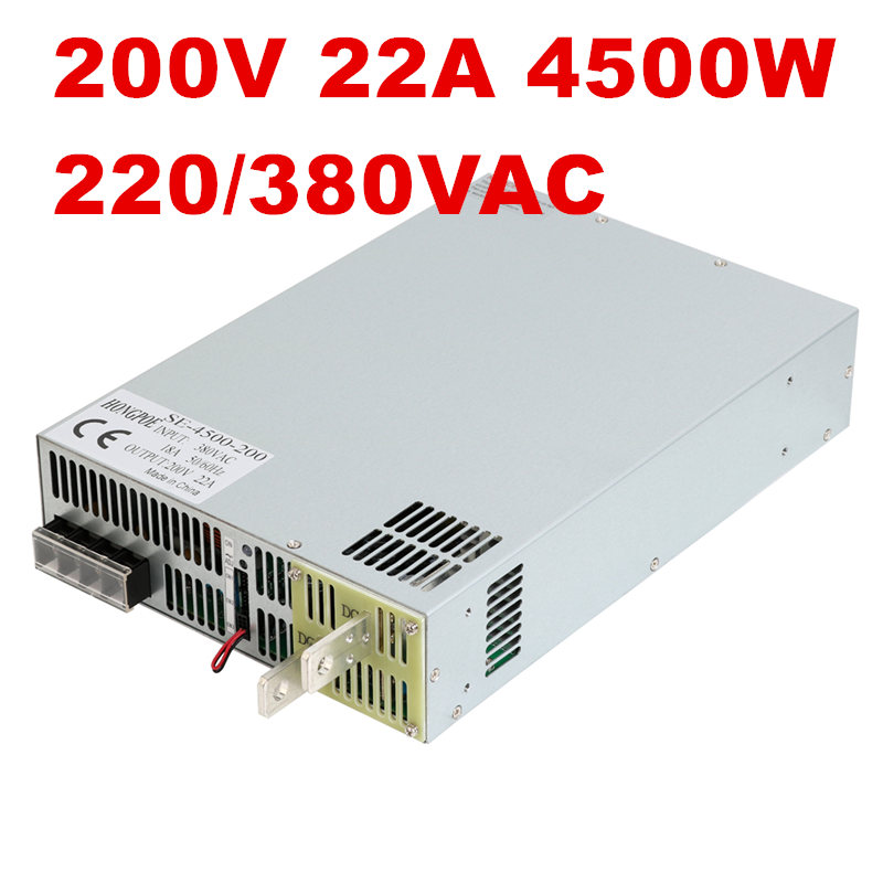 4500W 200V 22.5A DC20-200v power supply 200V22.A AC-DC High-Power PSU 0-5V analog signal control 3-phase 3-wire 200VAC, 380VAC new original sgdv 5r5a01a 200v servopack 3 phase