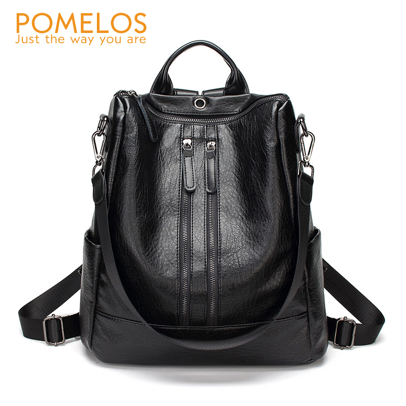 POMELOS Anti Theft Design Women Leather Backpack Rucksack Back Pack Girls High Quality Soft Backpacks Female Travel Backpack New