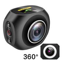 4K HD 360 mini Camera VR Mini Handheld Unique Dual Lens Sport Camera WiFi Video Action Sports Camera PANO360